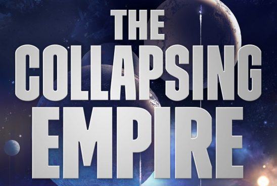 Cover art from The Collapsing Empire.