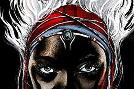 Cover art of the main character's face from Children of Blood and Bone.