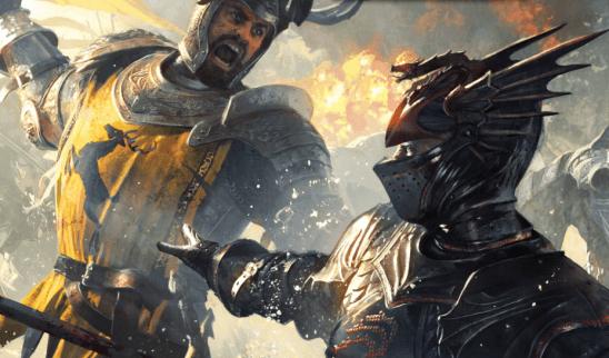 Robert Baratheon fighting Rhaegar Targaryen from A Song of Ice and Fire.