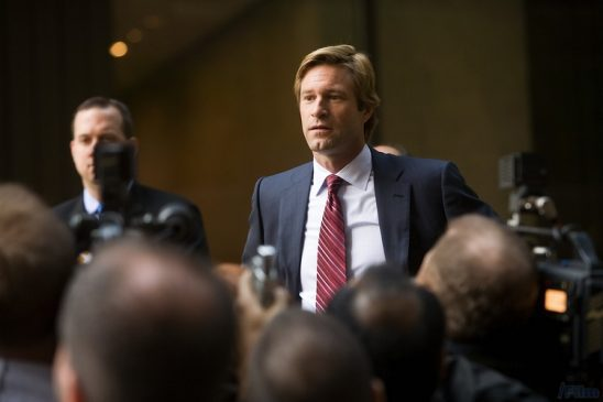 Harvey Dent before his injury in The Dark Knight.