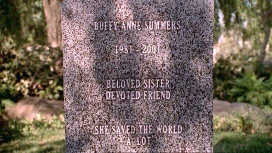 Buffy's gravestone from Buffy the Vampire Slayer.