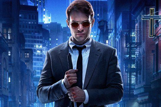 Matt Murphy with bloody knuckles from Netflix's Daredevil.