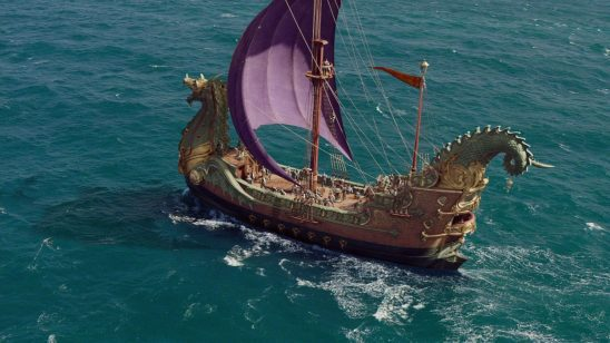 The ship Dawn Treader from the American film adaptation.