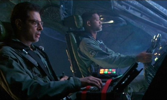 Will Smith and Jeff Goldblum play two men flying a mysterious alien vessel.