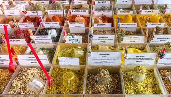 A wrack of spices.