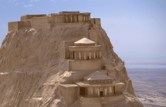 A restored model of the fortress at Masada.