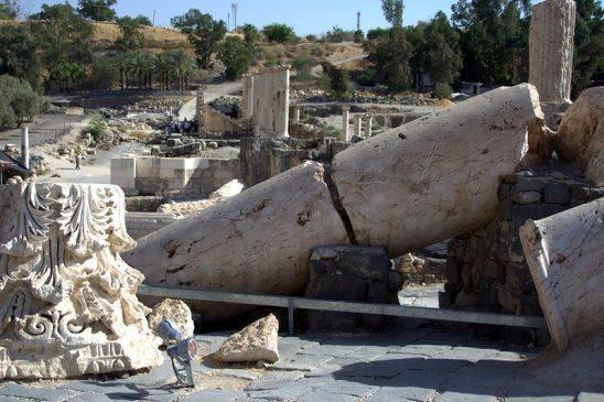 Fallen Columns at an archaeology site.