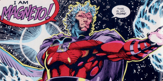 Magneto shouting his name from the X-Men comics.