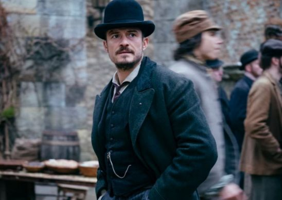 Orlando Bloom in a Bowler Hat and Victorian suit