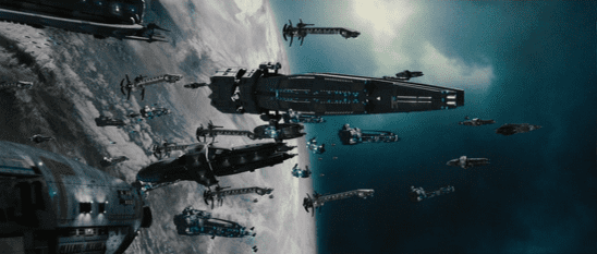 Alliance ships from the film Serenity.