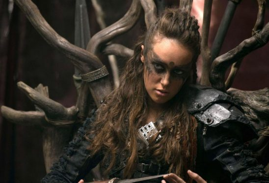 Lexa on the Commander's Throne.