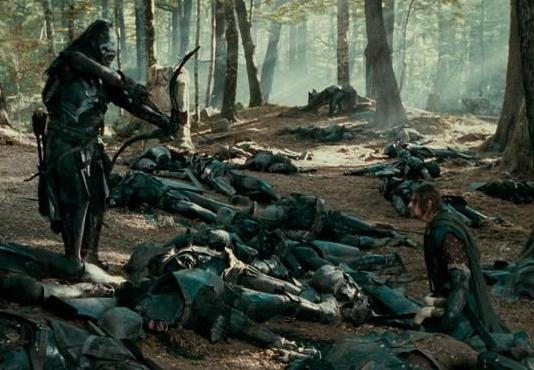 Uruk-hai shooting Boromir