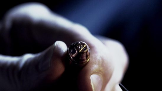 A bullet with a Devil's Trap carved into it.