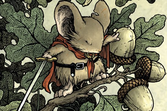 A swordsmouse from Mouse Guard.