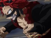 The character Red Riot from My Hero Academia