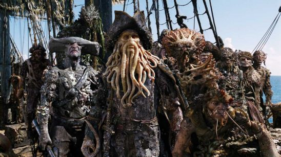 The sea monster crew of Davy Jones' ship.