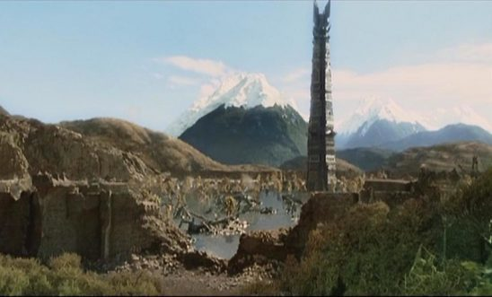Isengard ruined from the ent attack.