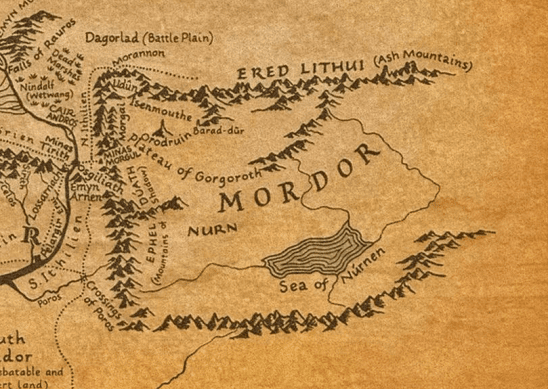 A map of Mordor
