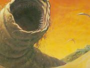 A sandworm in the desert.