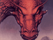 A red dragon from the cover art of Eldest