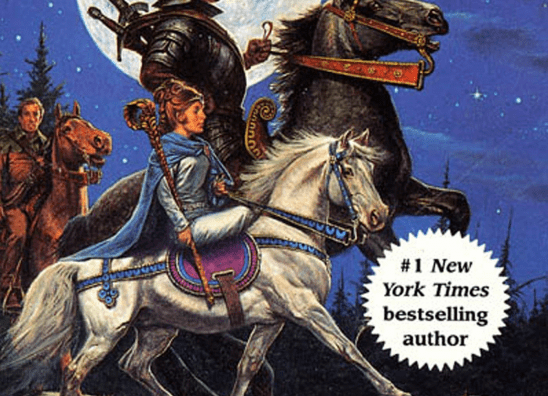 Cover art showing tiny Moraine on her tiny horse.