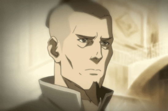 A flashback of Sokka as an adult.