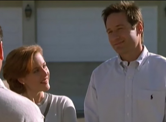 Scully and Mulder work undercover pretending to be a married couple