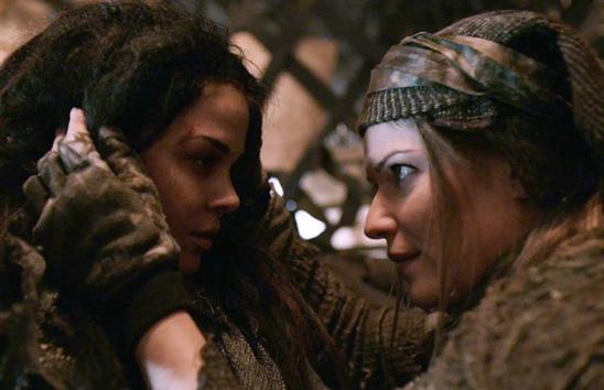 Octavia and Diyoza have a close conversation