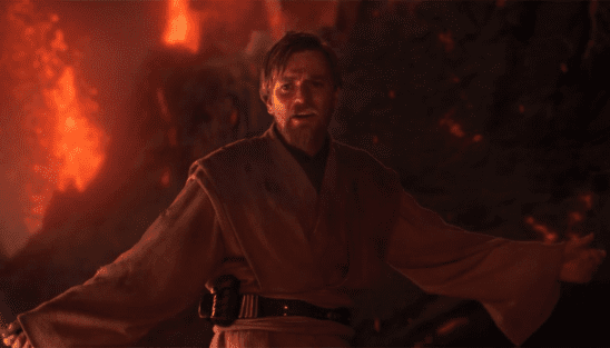 Obi-Wan with his hands spread.