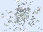 A map of the Earthsea archipelago.