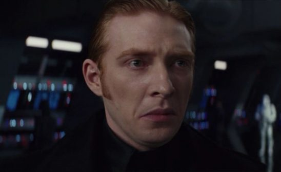General Hux frowns during The Last Jedi