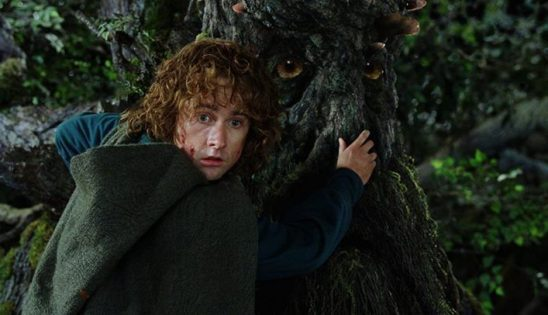 In Lord of the Rings, the hobbit Pippin grabs the nose of Treebeard