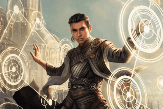 Art from the MTG card Teyo the Shieldmage, by Magali Villenuve