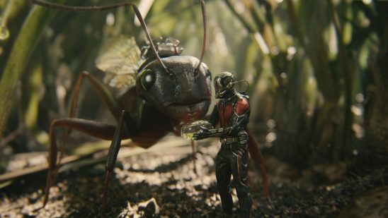 Ant-Man with his pet ant, Anthony.