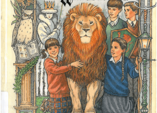 Cover art from The Lion, the Witch, and the Wardrobe