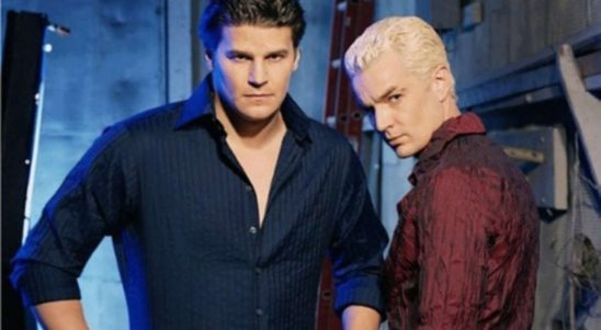 A publicity shot of Angel and Spike