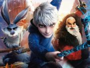 Bunny, Jack, and Santa in action poses from Rise of the Guardians.